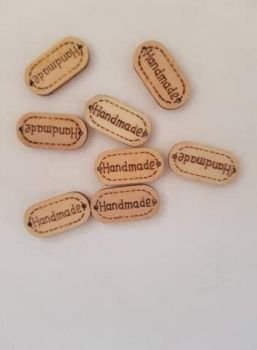 Handmade Wooden Oval Button 24mm (Pack of 8) - colours may vary slightly