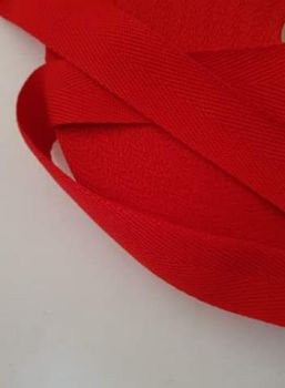 Red Webbing 25mm (per metre) Suitable for Apron Straps