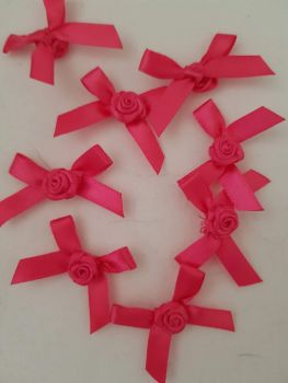 Cerise Ribbon with Rose Centre (each)