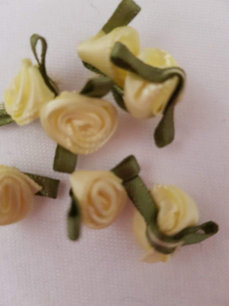 Lemon Ribbon Rose - Small (Pack of 8)