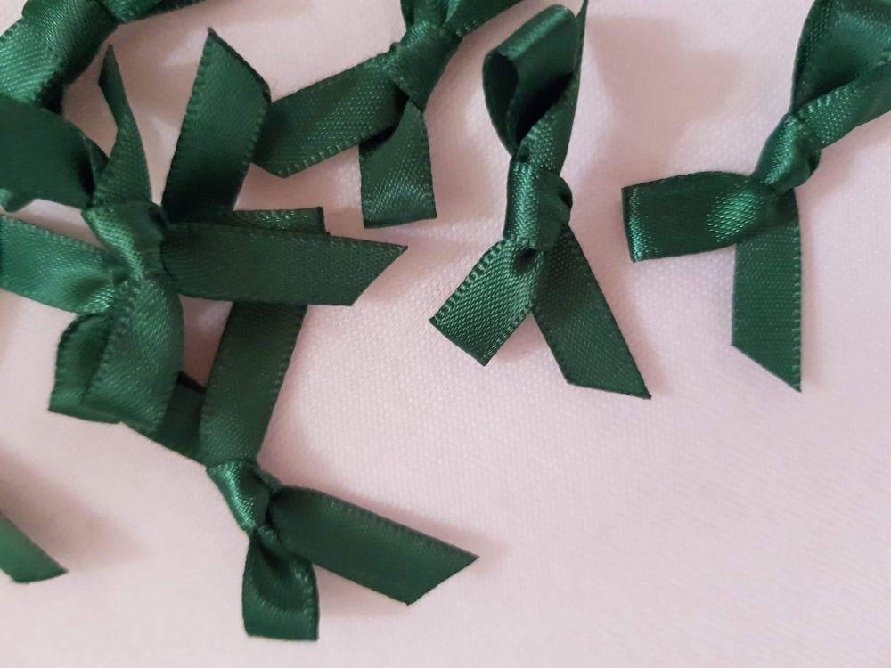 Bottle Green Bow (Pack of 15)