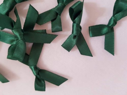 Bottle Green Bow (Pack of 15)