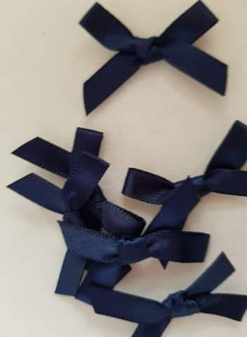 Navy Bow (Pack of 15)