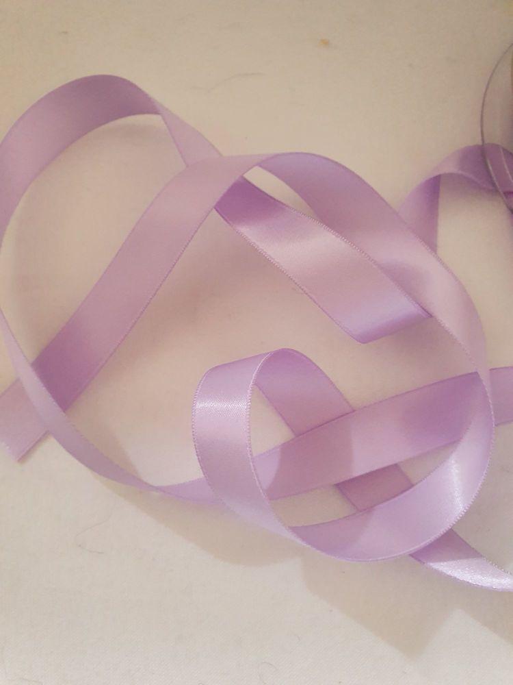 Lilac Double Satin Ribbon 15mm (per metre)