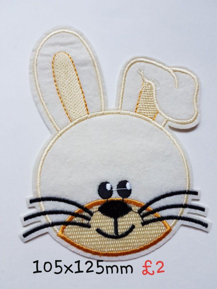 Rabbit / Bunny Motif - Beige/Cream 105x 125mm