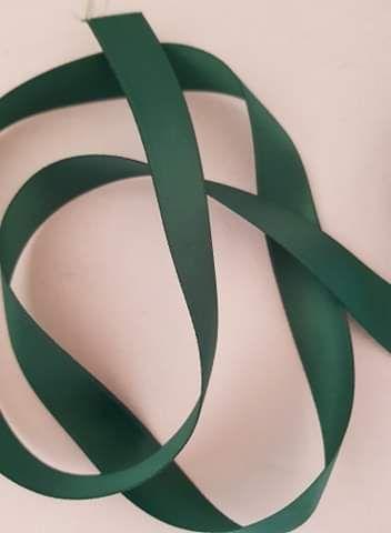 Green Double Satin Ribbon 10mm (per metre)
