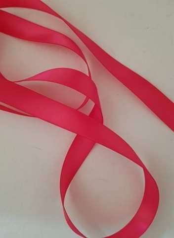 Cerise Double Satin Ribbon 6mm (per metre)