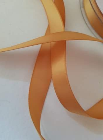 Old Gold Double Satin Ribbon 15mm (per metre)