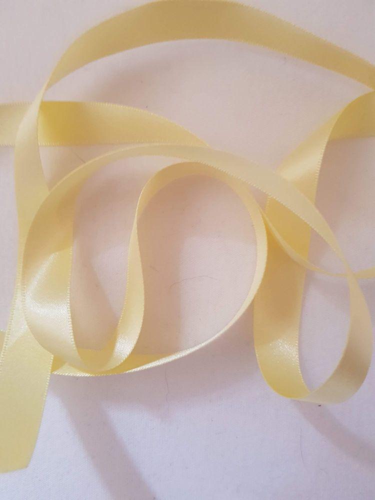 Lemon Double Satin Ribbon 10mm (per metre)