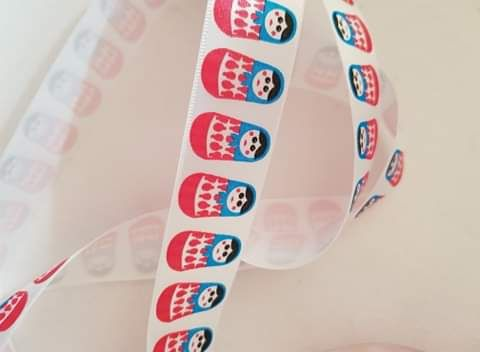 Russian Doll Satin Ribbon 25mm (per metre)