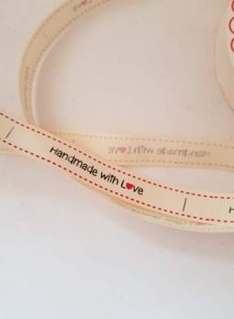 Handmade with Love Grosgrain Ribbon 16mm (per metre)