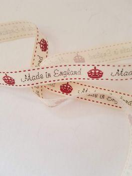 Made in England Grosgrain Ribbon 16mm (per metre)