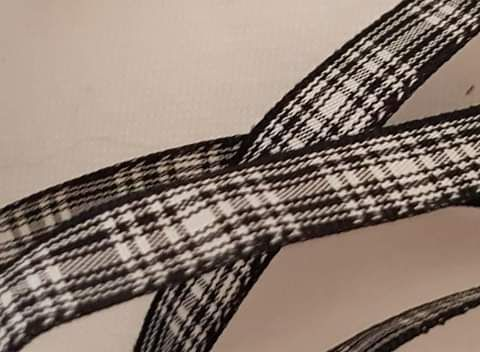 Tartan Black Menzies 10mm (per metre)