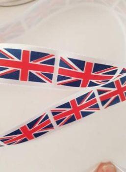 Union Jack Ribbon 25mm (per metre)