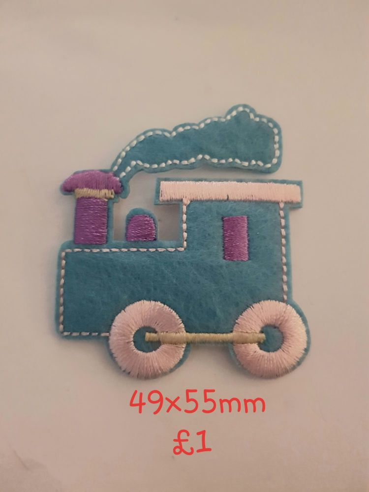 Train Motif - Blue