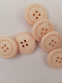 Cream Button 20mm (each)