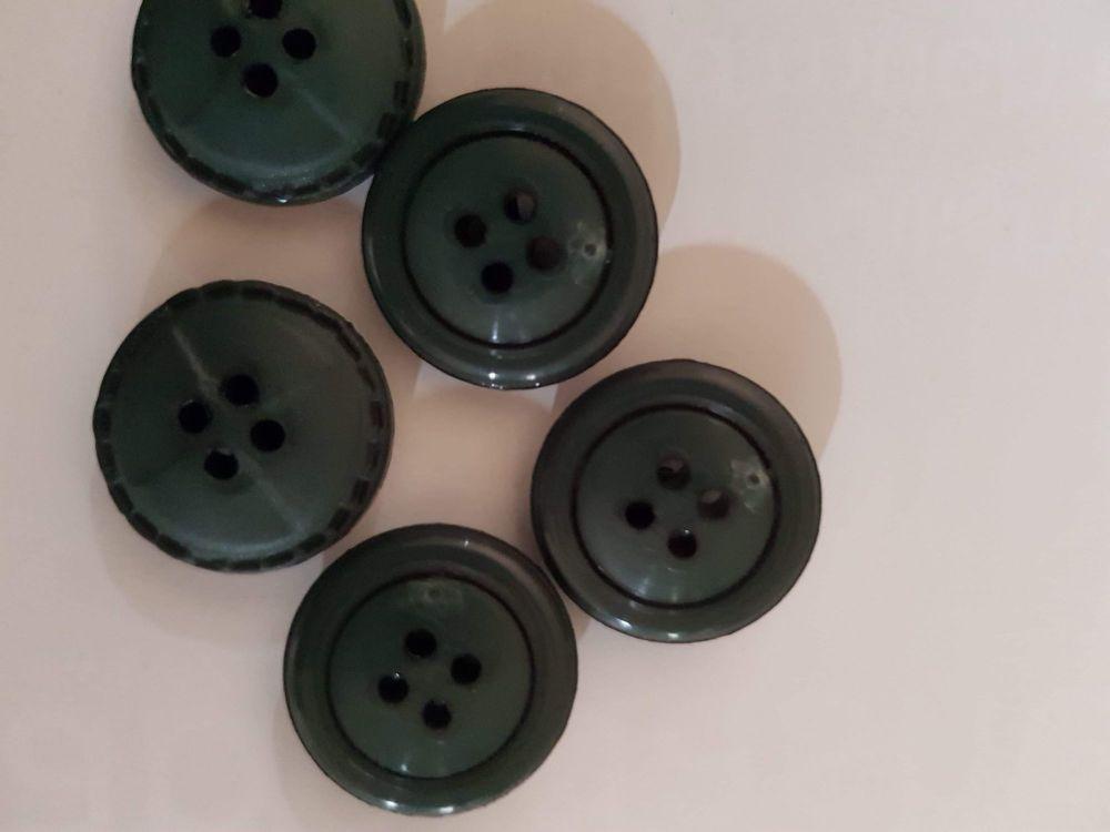 Dark Green Button 20mm (each)