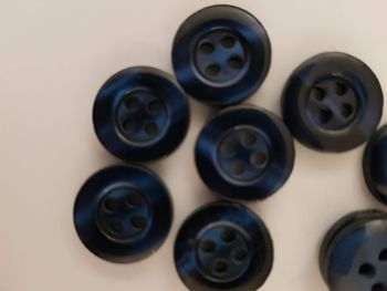 Dark Blue Button 13mm (each)  Was 10p each