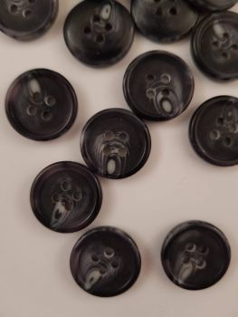 Black Marl Button 15mm (each)  Was 15p each