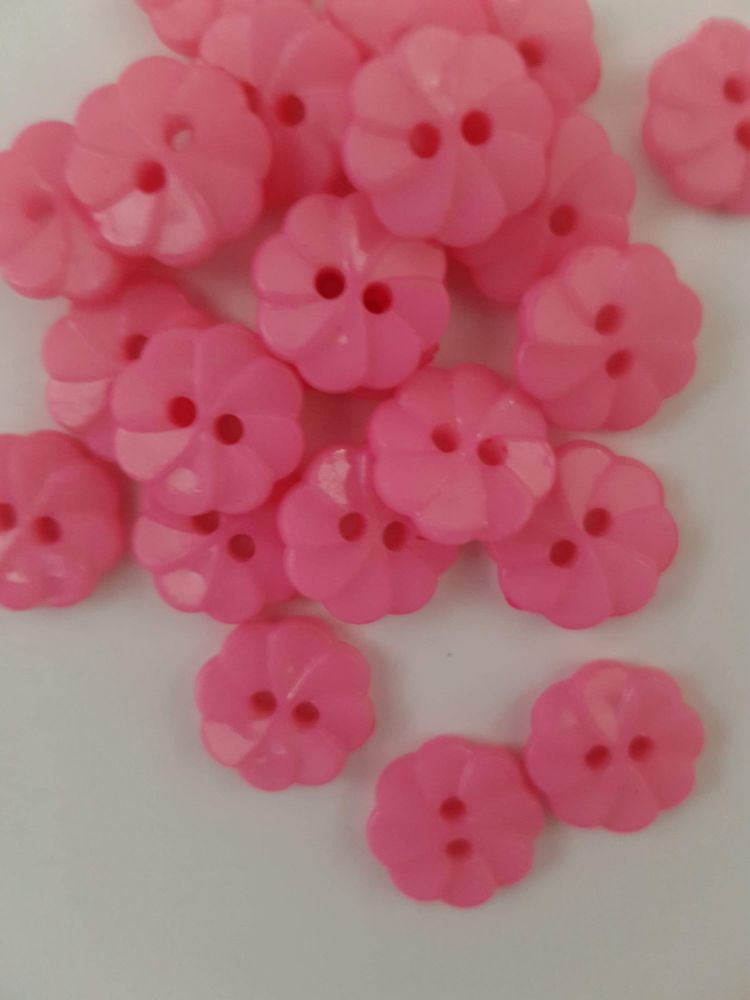 Pink Pin Wheel Button (Pack of 10)