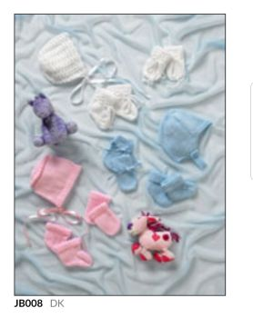 Childrens Knitting Pattern Hat,Mitts,Bootees JB008