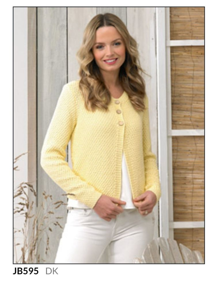 Ladies Knitting Pattern Cardigan JB613