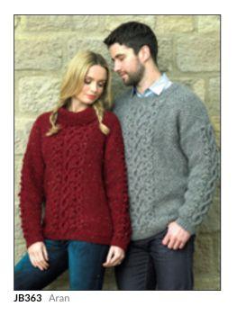 Adult Knitting Pattern Jumper JB363