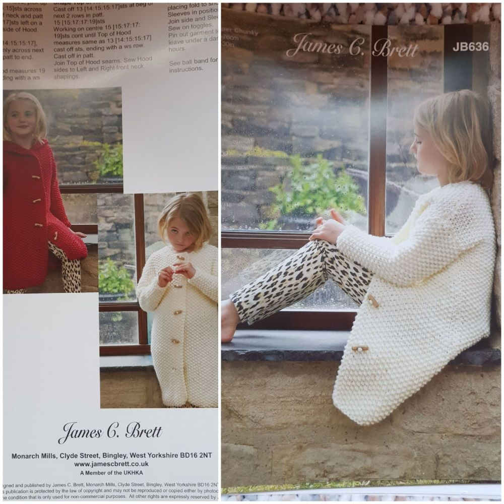 Childrens Knitting Pattern Long Cardigan JB636