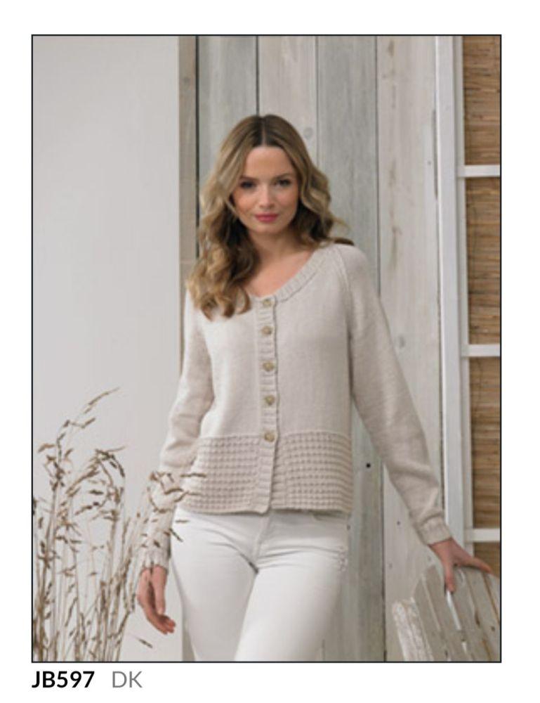 Ladies Knitting Pattern Jumper JB597