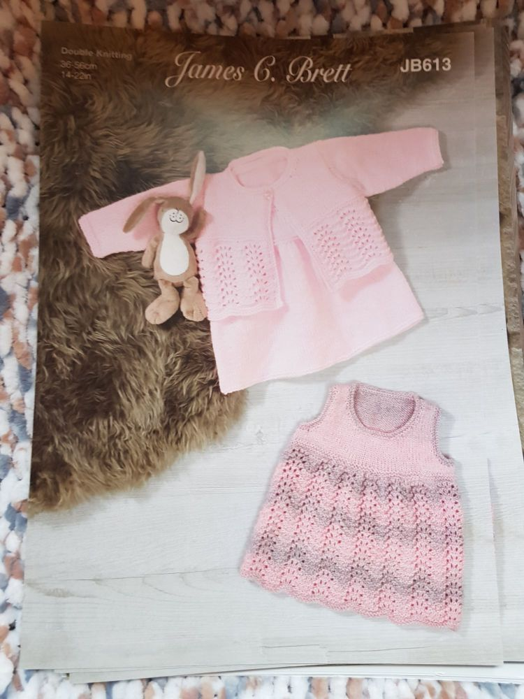 Childrens Knitting Pattern Dress JB613