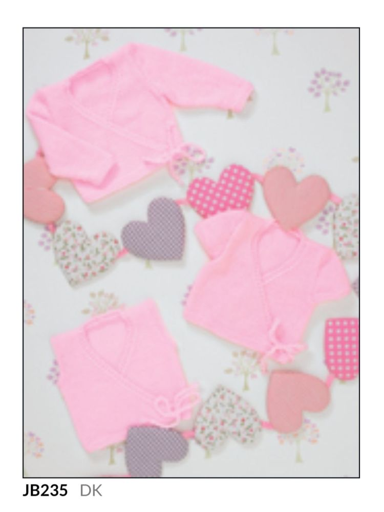 Childrens Knitting Pattern Crossover Cardigan JB235
