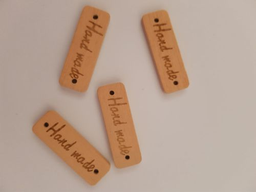 Handmade Wooden Button/Tag 30mm (Pack of 8)