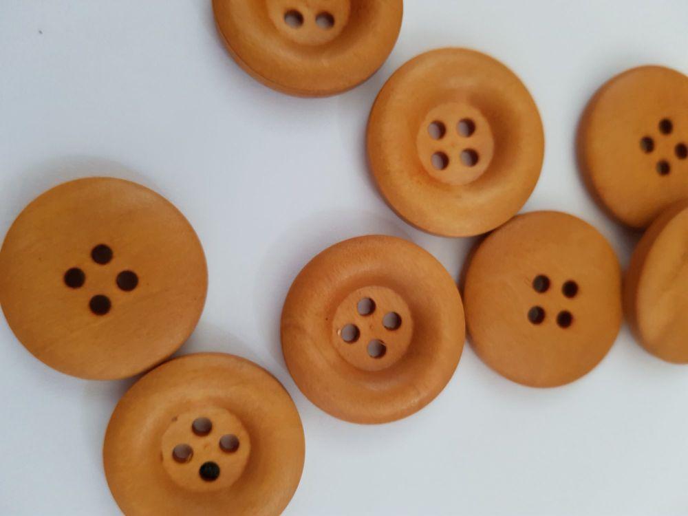 Wooden Button - 23mm (each)