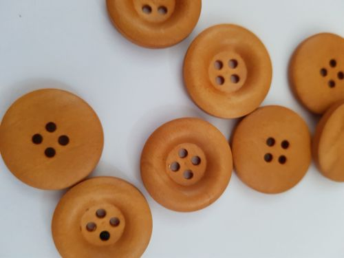 Wooden Button - 23mm (each)