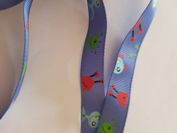 Blue Alien Grosgrain Ribbon 16mm (per metre)