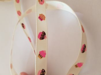 Cupcake Grosgrain Ribbon 9mm (per metre)