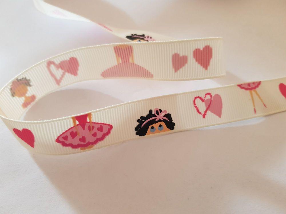Ballet / Dancer Grosgrain Ribbon 16mm (per metre)