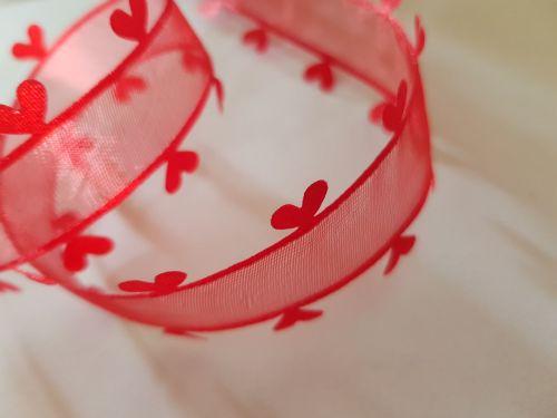 Red Heart Edge Organza Ribbon 25mm (per metre)