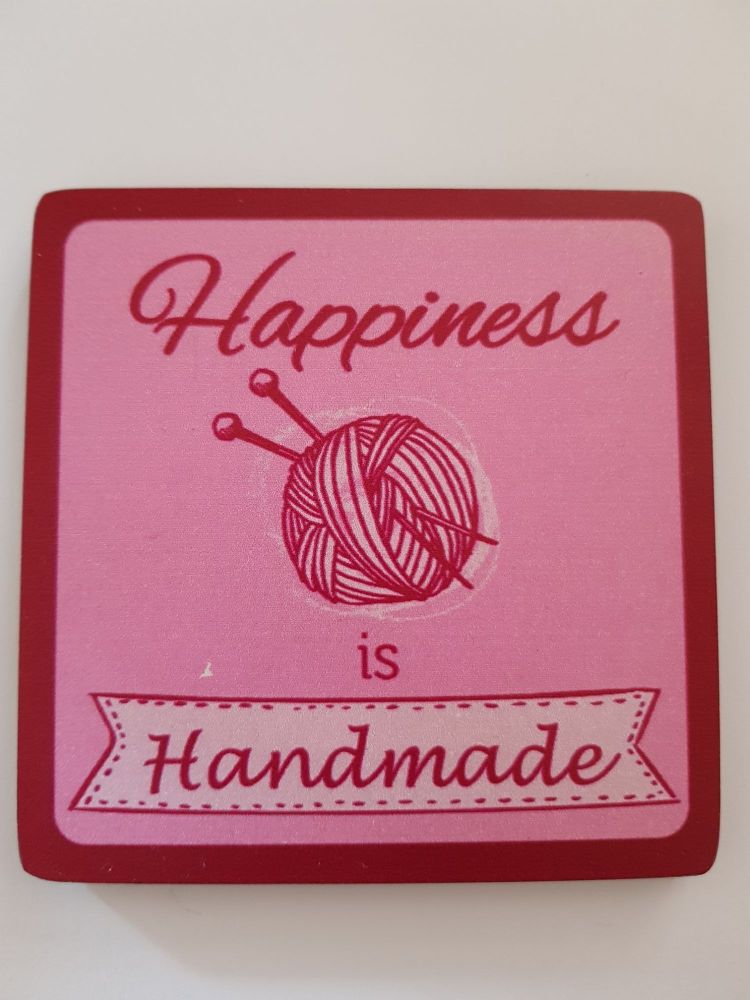 Happiness is Handmade Coaster