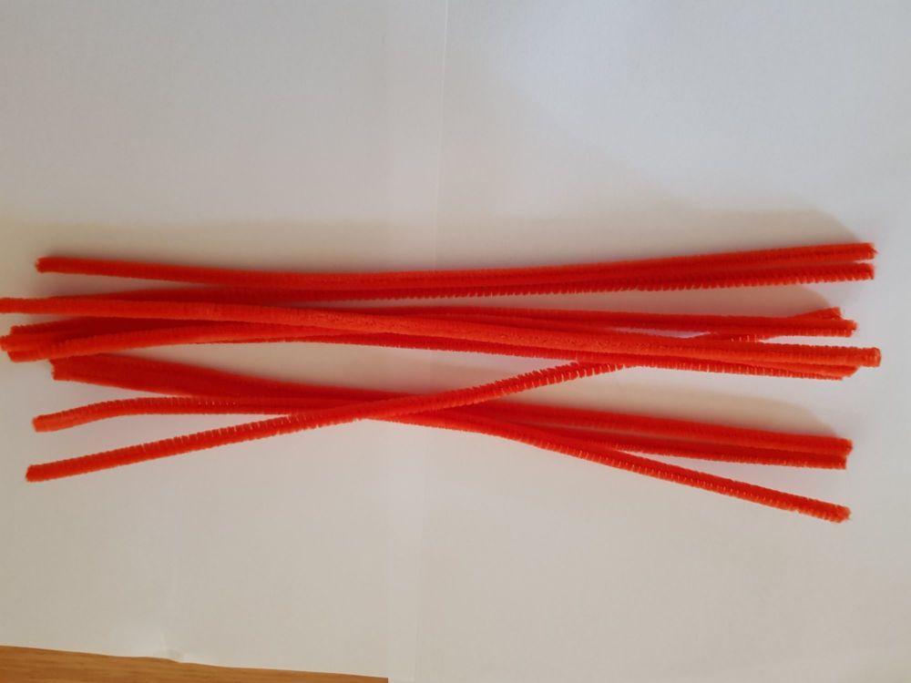 Red Chenille Sticks x12