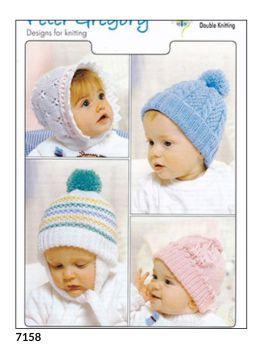 Childrens Knitting Pattern Hats PG7158
