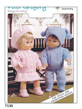 Doll and Premature Baby Knitting Pattern Aran Set PG7130