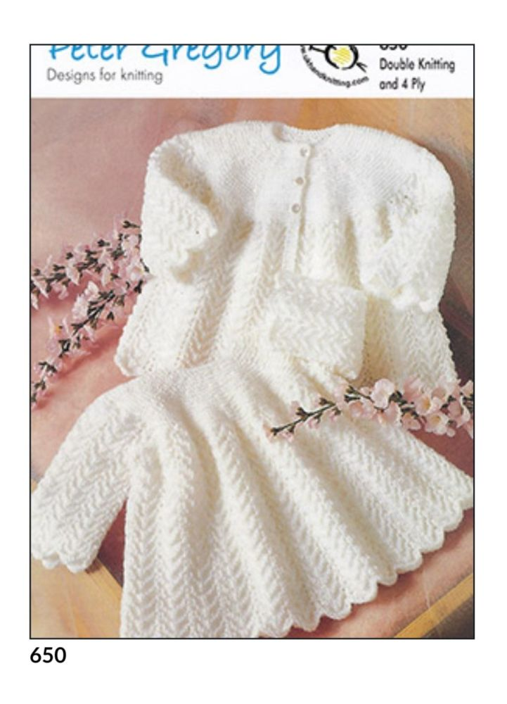 Childrens Knitting Pattern Dress and Coat PG650