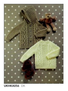 Childrens Knitting Pattern Aran Cardigan UKHKA56