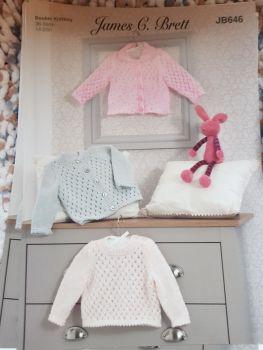 Childrens Knitting Pattern Cardigan JB646