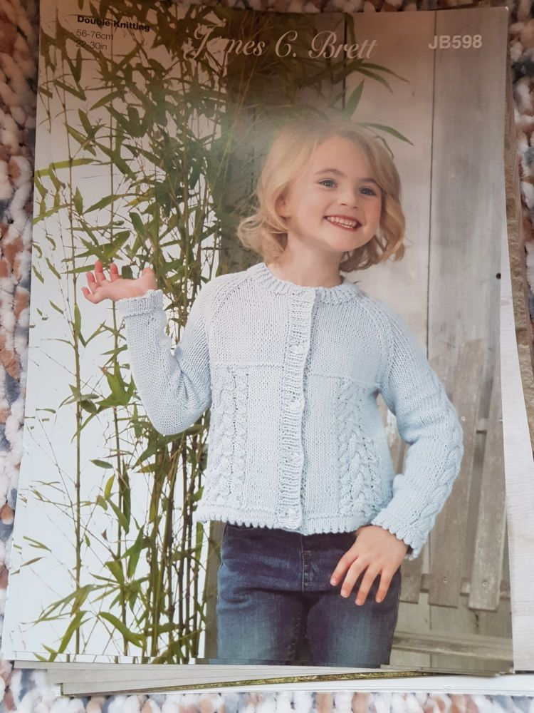 Childrens Knitting Pattern Cardigan JB598