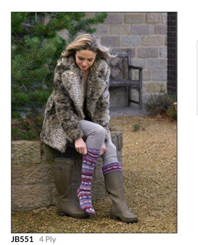 Adult Knitting Pattern Socks JB551