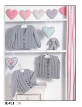 Childrens Knitting Pattern Cardigan JB481