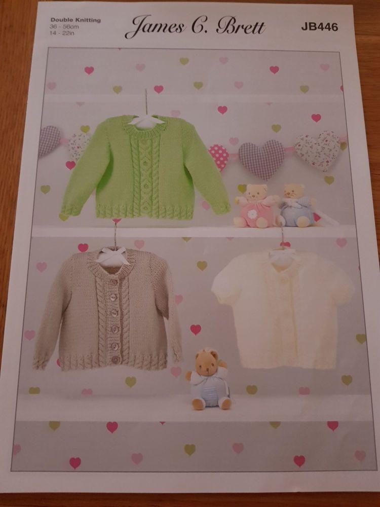 Childrens Knitting Pattern Cardigan JB446