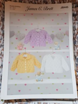 Childrens Knitting Pattern Cardigan JB445